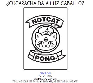 Notcat Pong, juego de cartas